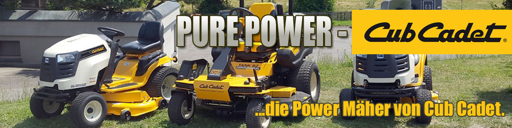 Power Mäher Cub Cadet